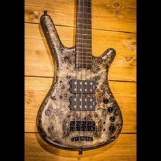 """Corvette $$ with 3/8"""" Poplar Burl top, Swamp Ash back and Nirvana Black Stone Bleached finish #warwick #framus #warwickbass #framusguitar #bass #guitar #instrument #music #musician #sound #strings #wood #woodporn #play #player #color #colorful #amps #amplification #acoustic #acousticguitar"""