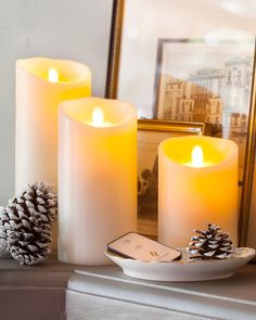 Bring a comforting glow to your home with the soft, gentle flickering flame of Balsam Hill's Luminara™ Flameless Battery-Operated Pillar Candles. #MothersDay #GiftIdeas