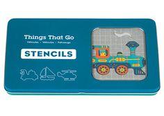 Een set van 10 sjabloon kaarten met allerlei verschillende middelen van transport om de gekste combinaties mee te maken.  Heel leuk om te leren tekenen.  De sjablonen zijn gemaakt in extra sterk karton dat voor 90% gemaakt is uit gerecycleerd papier.