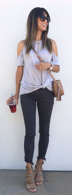 #summer #outfits Good Morning You Fabulously Good Looking People!! What Doesn't Look Fabulous Is My Black Nail Good News Is I Don't Need My Splint Anymore!I Love How Comfy My Top Is!! The Benefits Of A Soft Tee, But It Looks Like I Tried I Added Gray Pants And These über Comfortable Sandals! Comfort Is My Theme Here Hehe!! And Affordable!! I Like Looks That Don't Break The Bank