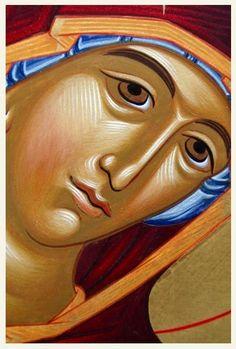 Theotokos Religious Images, Religious Art, Paint Icon, Orthodox Icons, Virgin Mary, Ikon, Madonna, Art Reference, Nativity