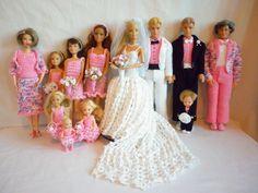 Boo Bear's Crochet Barbie Wedding