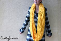 Creating Laura: Infinity Scarf Knitting Pattern