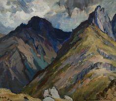 Cir Mhor, Arran by John Maclauchlan Milne (Scottish 1886-1957)