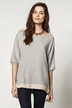 Contrast Trim Sweater #anthropologie