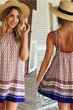 Printed vest posed dress skirt