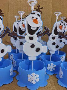 Resultado de imagen para centro de mesa festa infantil frozen