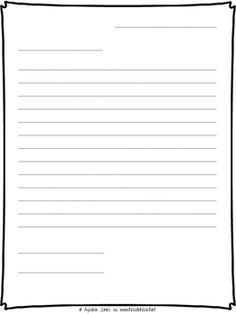 letter writing printable template this simple printable outline can be used for any friendly letter it includes an area for the five parts of the