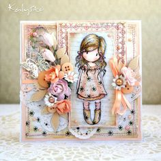 Gorjuss Girl Peach and Pearls | Character cards,tags,etc...