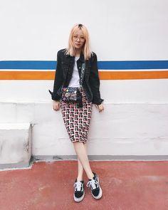 "28.6k Likes, 65 Comments - Irene Kim 아이린 (@ireneisgood) on Instagram: ""My @prada skirt is blooming  #ireneisseoul"""