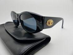 12e640b8f5c Genuine Rare Vintage Gianni Versace Sunglasses Mod 4V4 H Col 852 Diamante New  Old Stock