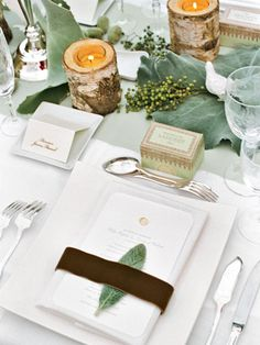 Light Winter Table Setting