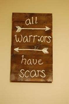 All Warrors Have Scars Project Semicolon sign by SimplyLuLuCustoms