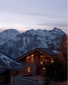 Chalet in the Alps by parisian designer and interior architect Noé Duchaufour-Lawrance.