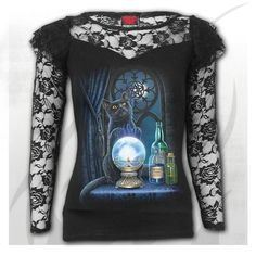 Baggy Top Black Spiral WITCHING HOUR