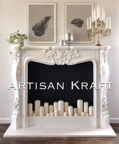 Versailles Marble Fireplace is a French style hand-carved fireplace. This is carved from white marble by an expert artis Faux Fireplace Mantels, Marble Fireplaces, Fireplace Design, Cream Fireplace, Fireplace Modern, French Country Bedrooms, French Country Decorating, French Decor, French Country Interiors