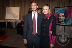 Princess Stephanie, Pierre Casiraghi and Beatrice Borromeo attends a charity auction in Monte-Carlo
