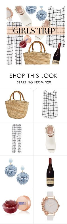 """Girls's trip"" by pinkdream235 ❤ liked on Polyvore featuring Balmain, Marni, Natasha, Lipstick Queen, Olivia Burton, balmain, polyvoreeditorial, girlstrip and WineTastingOutfit"