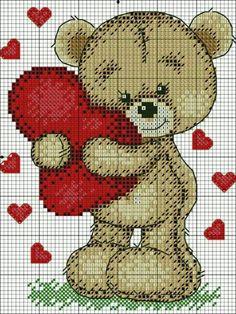 Disney Cross Stitch Patterns, Cross Stitch For Kids, Cute Cross Stitch, Cross Stitch Animals, Modern Cross Stitch Patterns, Cross Stitch Flowers, Cross Stitch Designs, Cross Stitching, Cross Stitch Embroidery