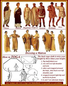 Roman clothing styles, especially elite men's and women's ceremonial styles were remarkably stable. - Google Search