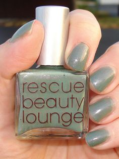 Gorgeous color! Click through for more pictures. Rescue Beauty Lounge - Halcyon by styrch, via Flickr