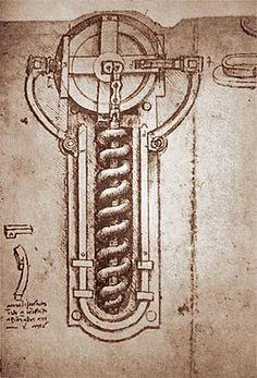 Schematic of flint wheel for firing a weapon with black powder (Codex Atlantic by Leonardo da Vinci Da Vinci Inventions, Da Vinci Quotes, Italian Renaissance, Caravaggio, Art Classroom, Texture Art, Cartography, Cool Artwork, Art History