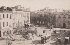 Calle Játiva, al fondo la calle Colón, década de los 10 del siglo XX.