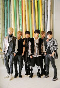 B.A.P   (left to right) Zelo, Jongup, Himchan, Yongguk, Daehyun, Youngjae