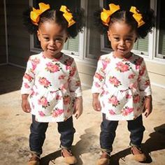 Baby Doll #curlyhair #cutenessoverload #royalty #ponytails #pigtails #babydoll Pretty Little Girls, Pretty Baby, Little Ones, Natural Hairstyles For Kids, Little Girl Hairstyles, Cute Kids, Cute Babies, Baby Kids, Kids Fever