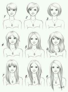 Variedades de corte y largos para el mismo tipo de rostro