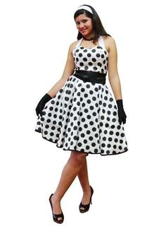 vestidos anos 60 branco e preto
