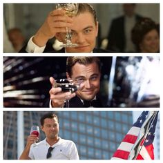 Cheers from Leonardo DiCaprio
