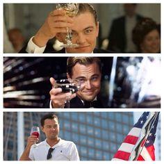 Cheers from Leonardo DiCaprio