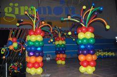 Columnas globos multicolor$$$Columnes globus multicolor