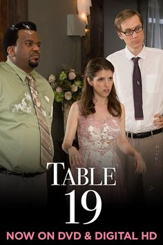 That dress has seen better days… watch Anna Kendrick, Craig Robinson & Stephen Merchant in Table 19 on Digital HD today