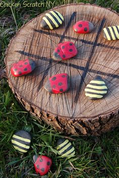 Lady Bug and Bumble Bee Tic-Tac-Toe  - CountryLiving.com