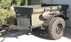 Old M416-style Military trailer