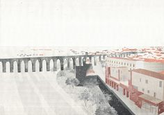 Drawing ARCHITECTURE          | Alim Saleh, Thickening the City Wall, Evora....