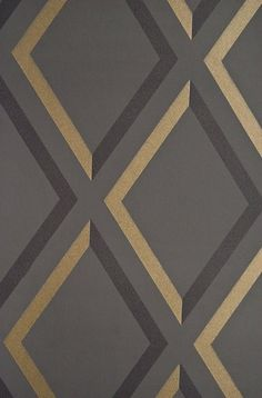 Pompeian Trellis Wallpaper Geometric Charcoal and Black diamond trellis effect wallpaper with metallic gilver embellishment. Im seeing this one in the dining room! Bathroom Wallpaper, Wall Wallpaper, Trellis Wallpaper, Contemporary Wallpaper, Fabric Rug, Cole And Son, Gold Pattern, Pattern And Decoration, Textures Patterns