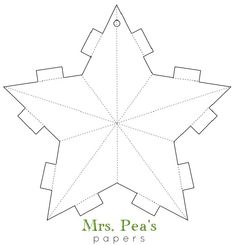DIY Paper Star Garland To me Thanksgiving is such a nice primer to usher in the Holiday Season. Right away you get to start off your Christmas decorating with a clean house (if you hosted), and all the leftover pumpkin … Printable Christmas Decorations, Paper Christmas Ornaments, Christmas Templates, Christmas Art, Xmas, Christmas Ideas, Ornament Template, Star Template, Printable Templates