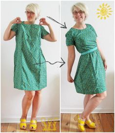 New Dress a Day: What does not fit is made to fit.