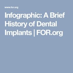 Infographic: A Brief History of Dental Implants | FOR.org