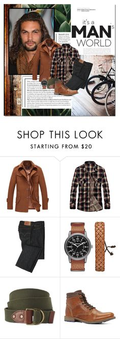 """""""a man's world"""" by lifestyle-ala-grace ❤ liked on Polyvore featuring Levi's, Arizona, L.L.Bean, ALDO, men's fashion and menswear"""