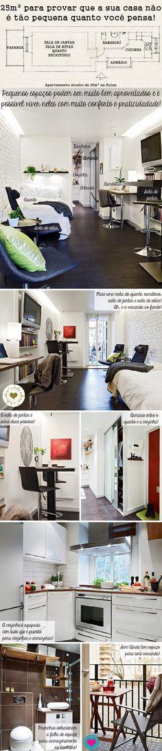 Amazing 25m² apartment in Switzerland. By Casa de Valentina.