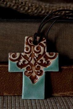 cross necklace.