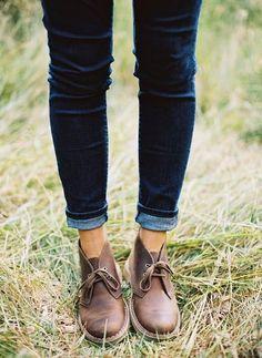 Clarks   blue jeans