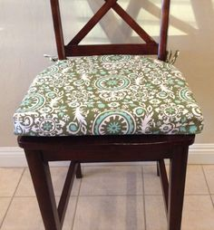 Seat cushion cover kitchen chair pad cover by BrittaLeighDesigns
