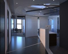 Custom House, 5th Floor Reception desk + Lobby