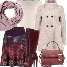 Indossiamo un cappottino leggero della Smash, una gonna a campana con fantasia graziosa, un pullover basic ed una pashmina morbida, vi piace l'idea per una passeggiata autunnale?