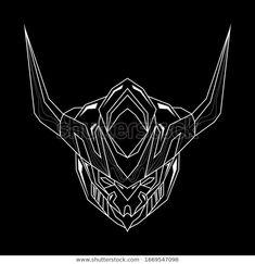 Robotic Head Line Art Style Mascot Stock Vector (Royalty Free) 1669547098 Gundam Art, Line Art, Robot, Royalty Free Stock Photos, Adobe, Streamers, Image, Creative, Style